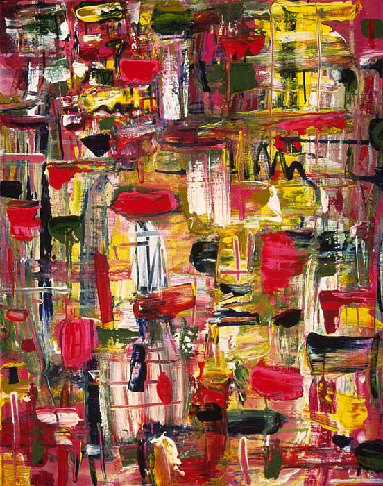 Abstract Painting - Obsession by Sheila Hecht