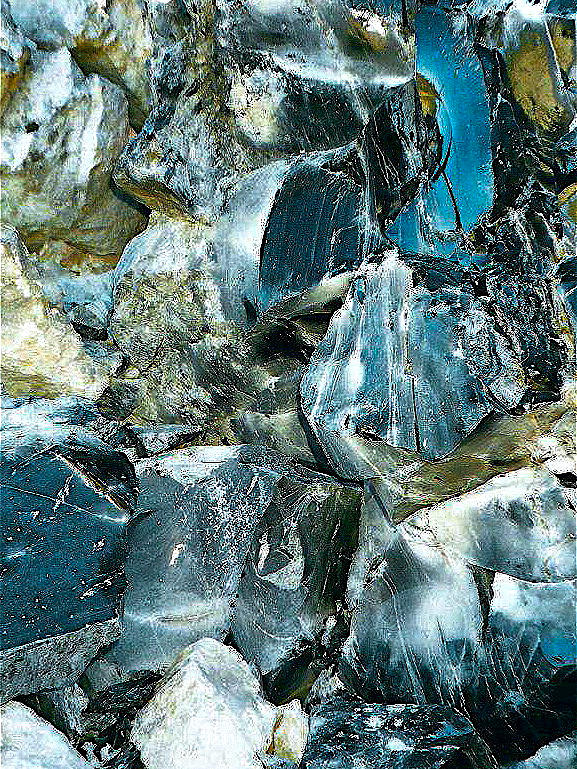 Oregon Photograph - Obsidian In Newberry National Volcanic Monument, Oregon  by Ruth Hager