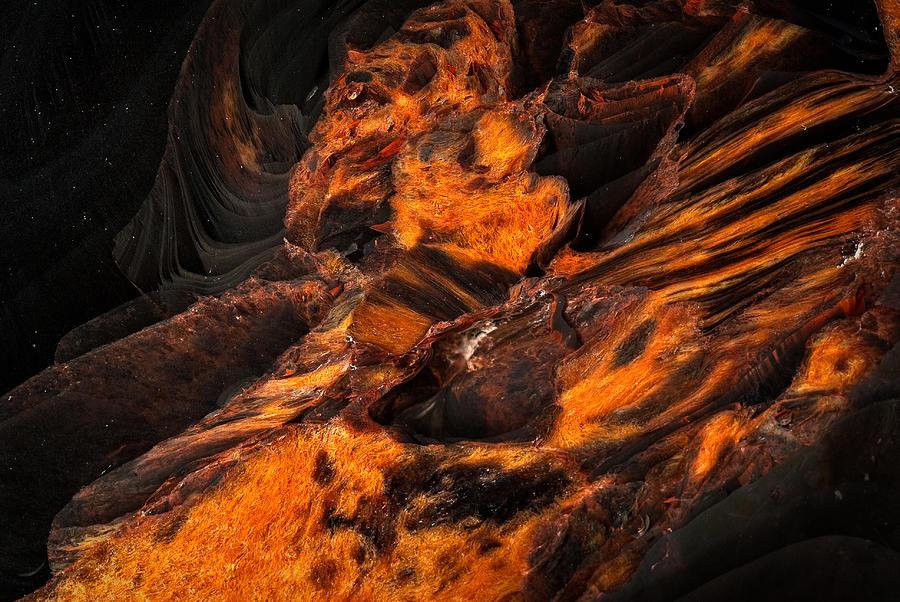Obsidian Rock - Lava Flow Photograph