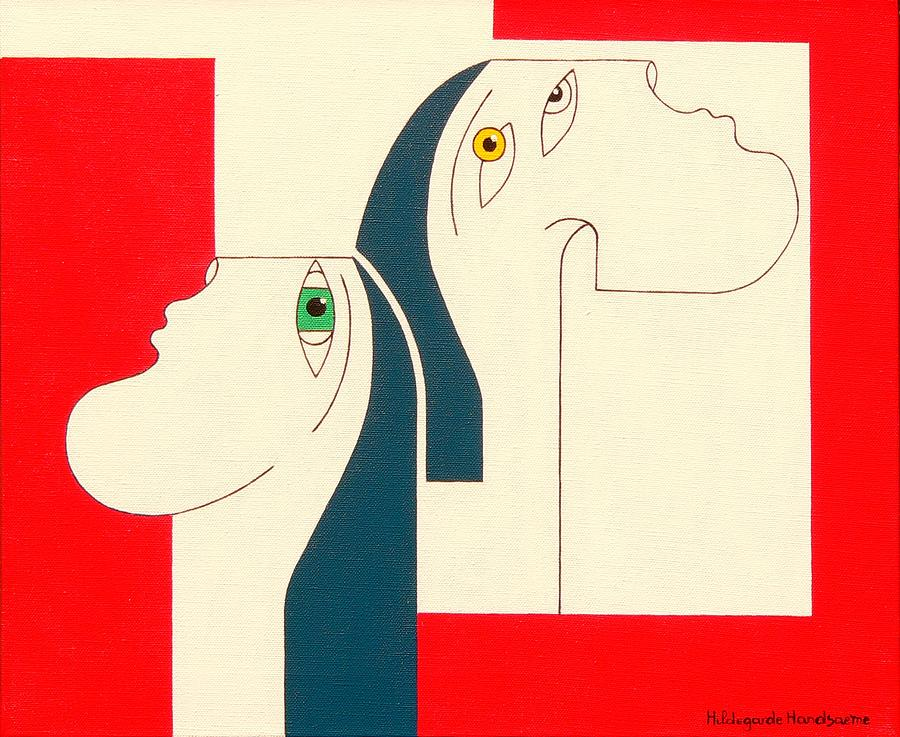 Obstinate Painting by Hildegarde Handsaeme