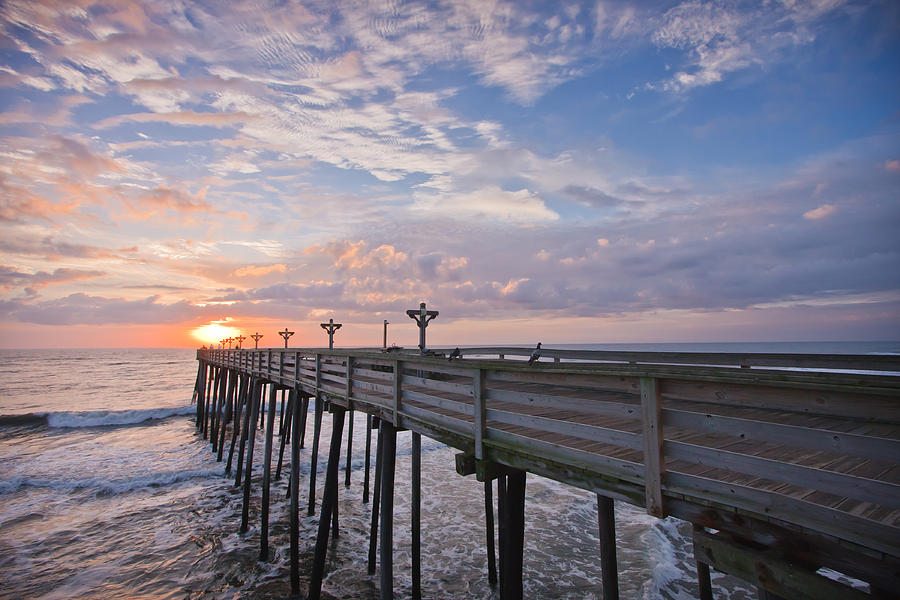Atlantic Photograph - Obx Sunrise by Adam Romanowicz