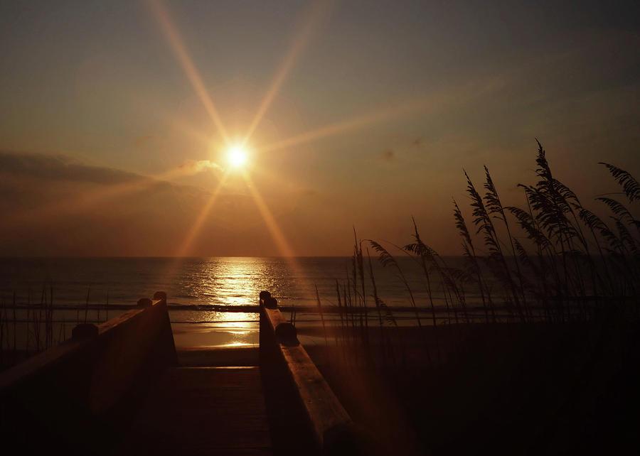 Beach Photograph - Obx Sunrise by JAMART Photography