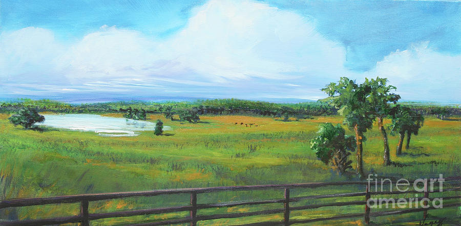 Horses Painting - Ocala Downs by Michele Hollister - for Nancy Asbell
