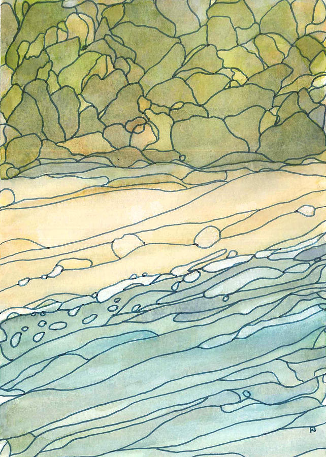 Ocean Painting - Ocean 3 by Katie Ree