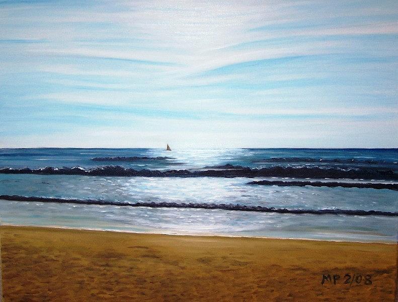 Seascape Painting - Ocean And Light by Madeleine Prochazka