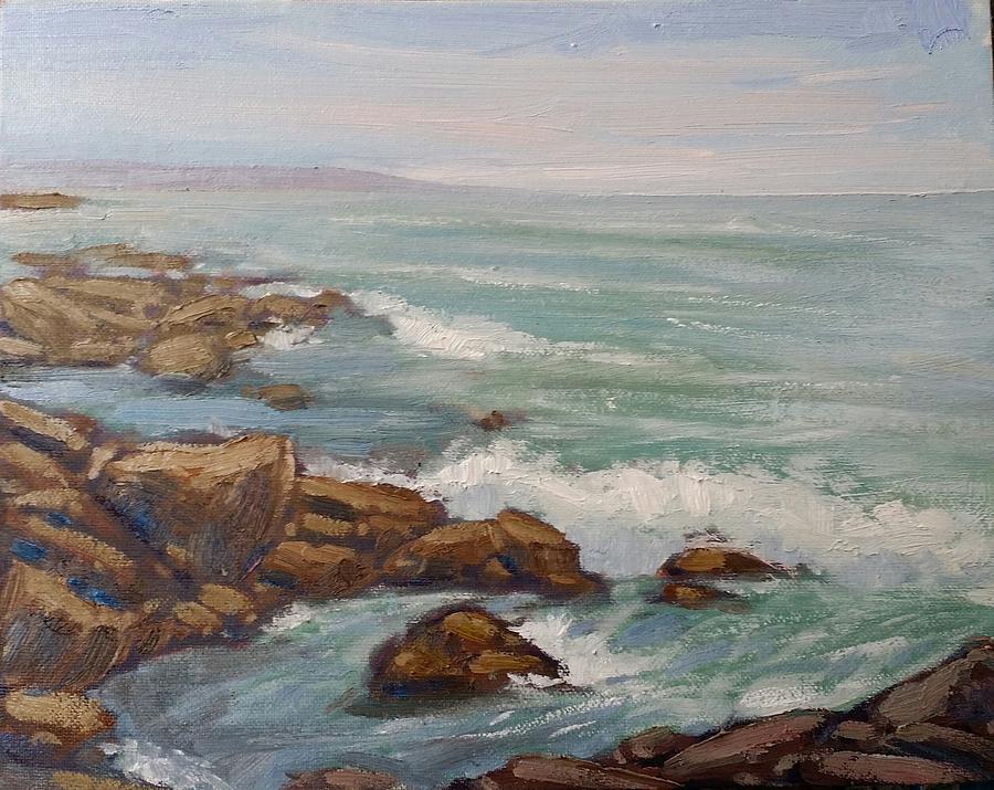 Ocean Beach CA Painting by Kevin Yuen