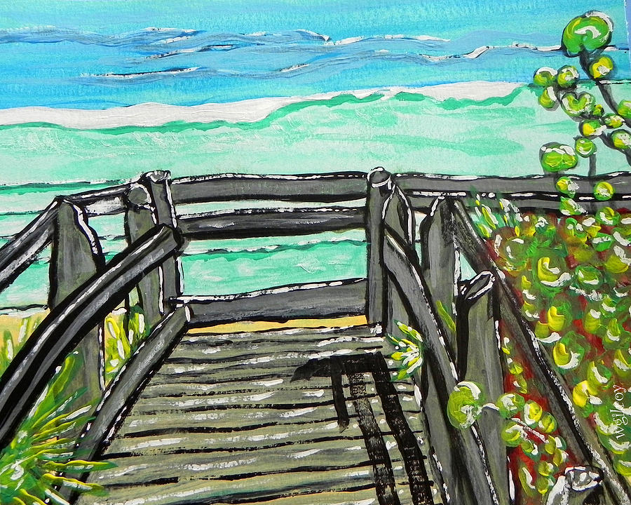 Nature Painting - ocean / Beach crossover by W Gilroy