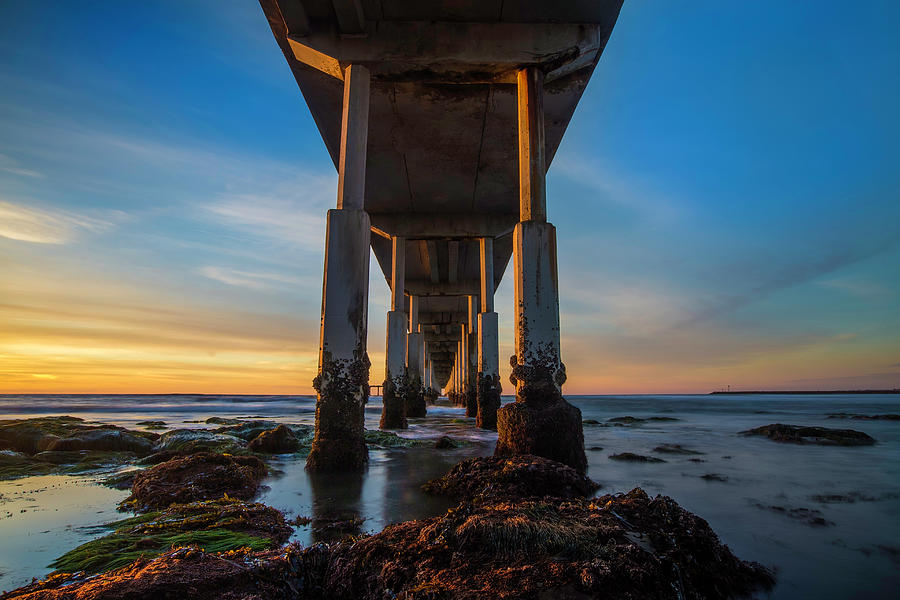 Low Tide Photograph - Ocean Beach Pier by Larry Marshall