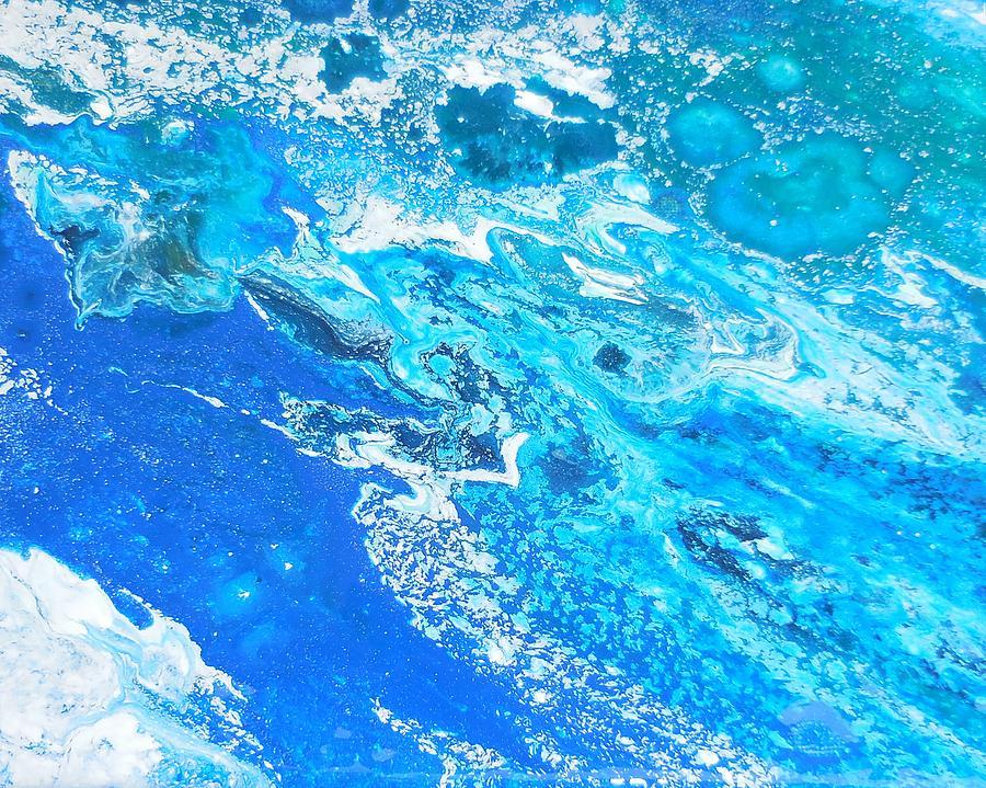 Ocean Blue -tac Mixed Media by Darin Black