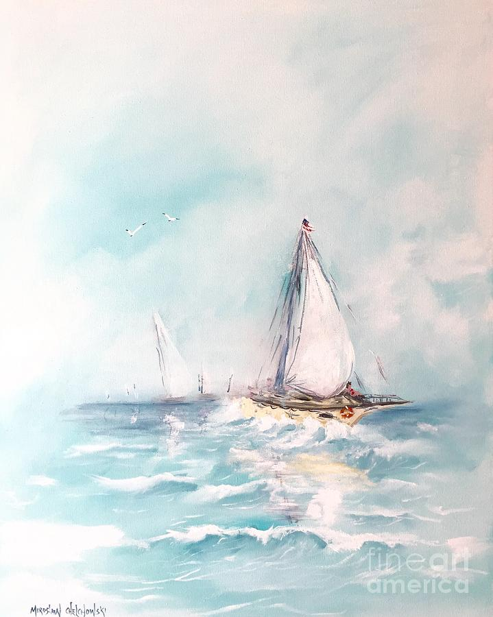 Ocean blues by Miroslaw  Chelchowski
