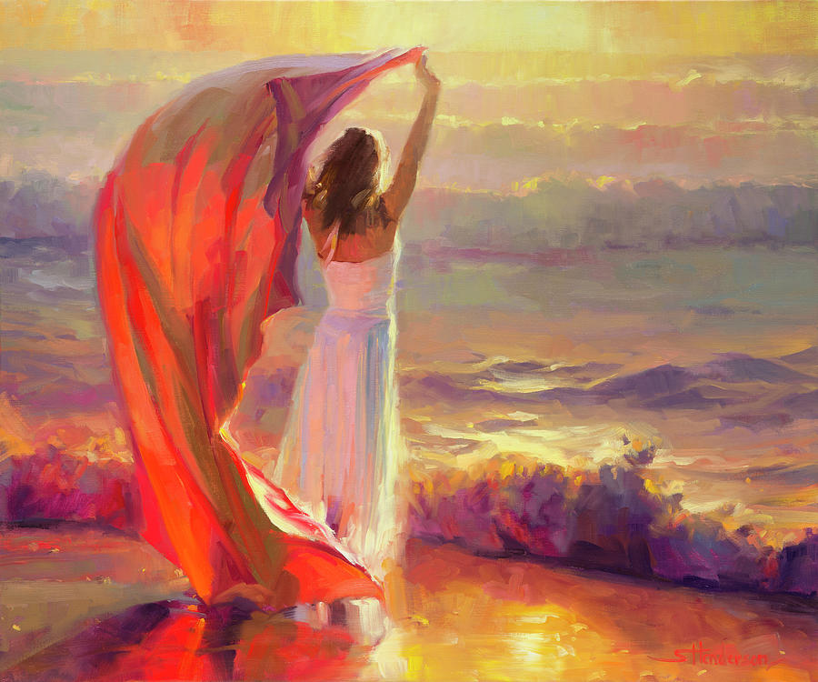 ocean breeze painting by steve henderson. Black Bedroom Furniture Sets. Home Design Ideas