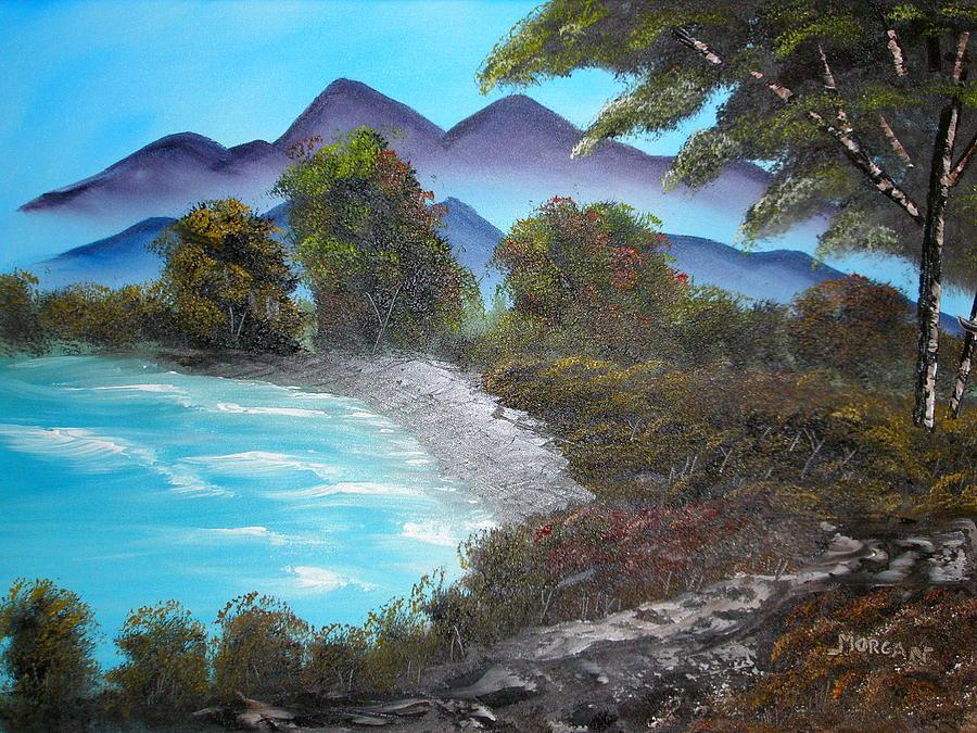 Seascape Painting - Ocean Breezes by Sheldon Morgan