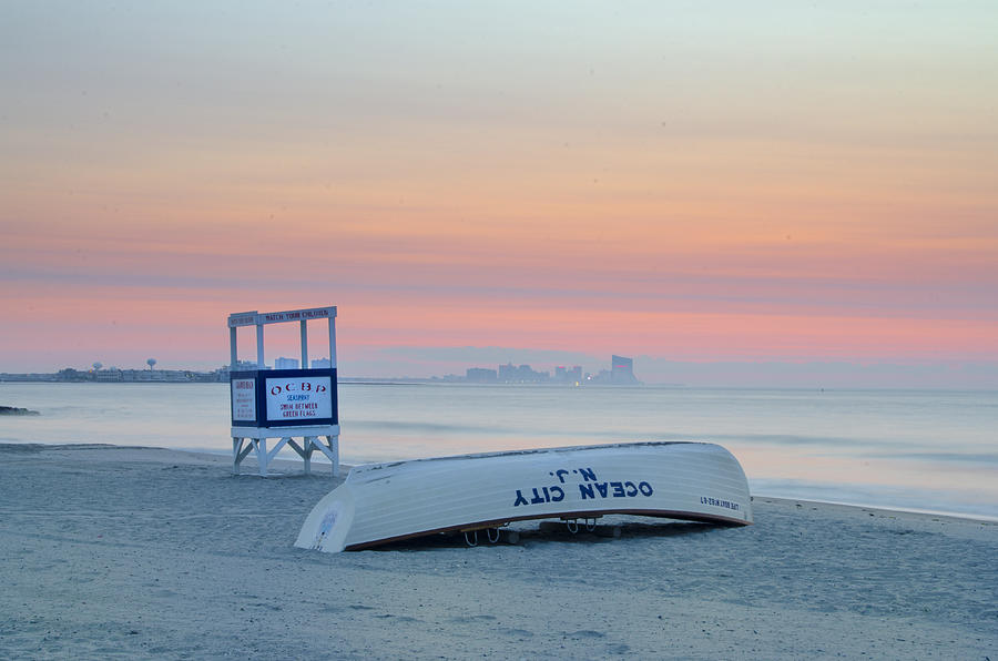 Ocean Photograph - Ocean City New Jersey Before Sunrise by Bill Cannon
