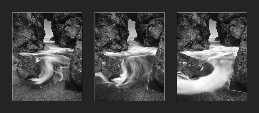 Triptych Photograph - Ocean Current by Leland D Howard