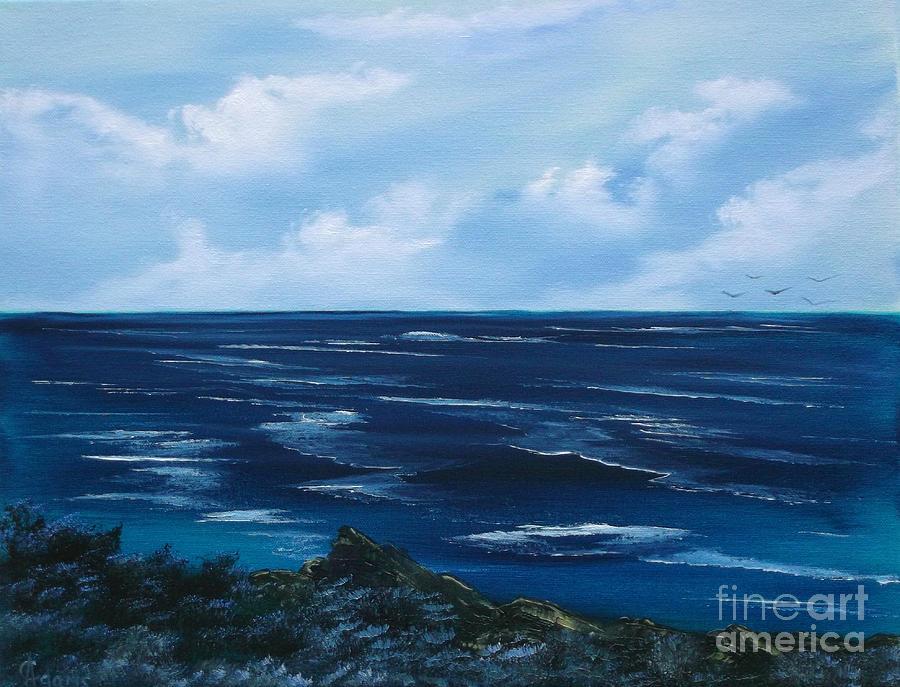 Sea Painting - Ocean by Cynthia Adams