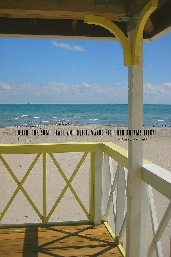 Beach Photograph - Ocean Dreaming Quote by JAMART Photography