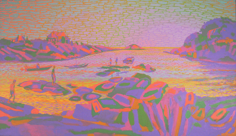 Landscape Painting - Ocean Drive Newport by Philip Peterson