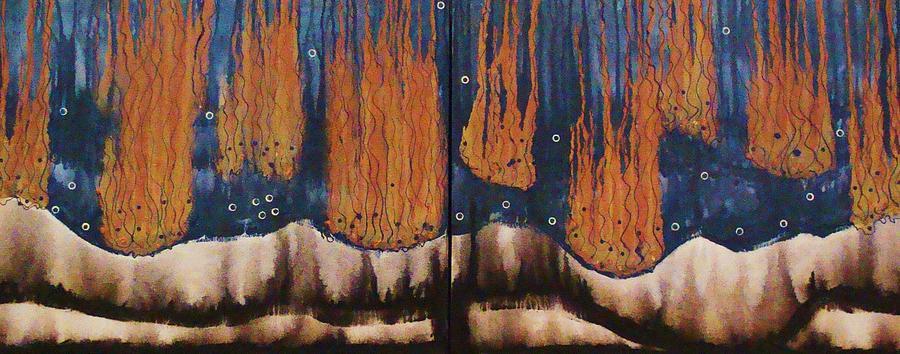 Abstract Painting - Ocean Eruptions by Ofelia Uz