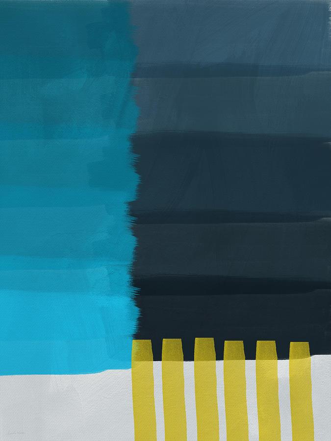Ocean Painting - Ocean Front Walk- Art By Linda Woods by Linda Woods