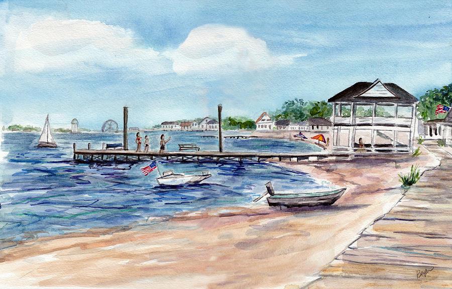 Ocean Gate Boardwalk by Clara Sue Beym