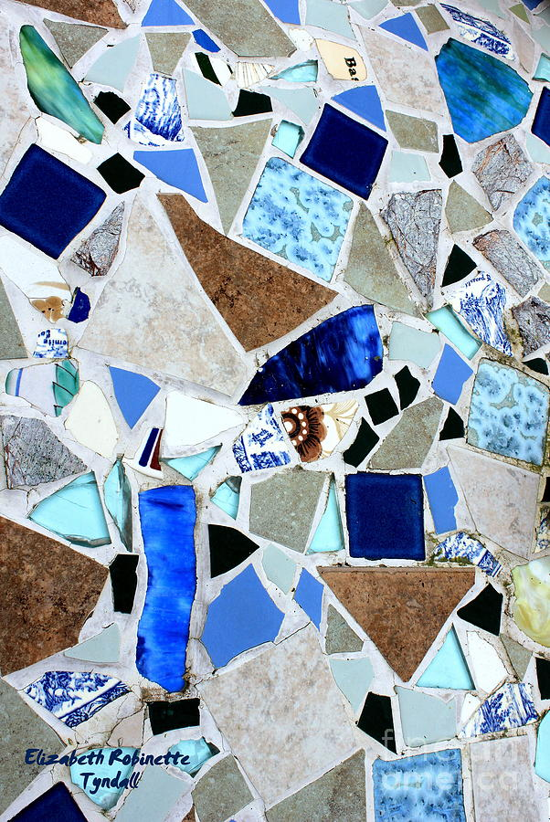 Glass Photograph - Ocean Glass Mosaics by Elizabeth Robinette Tyndall