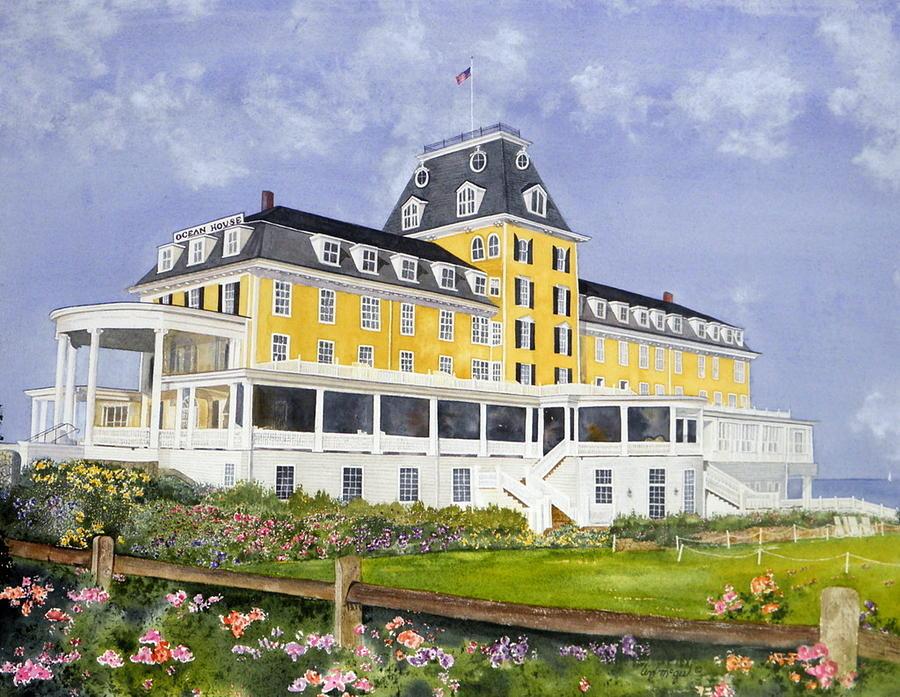 Ocean House Painting - Ocean House by Lizbeth McGee