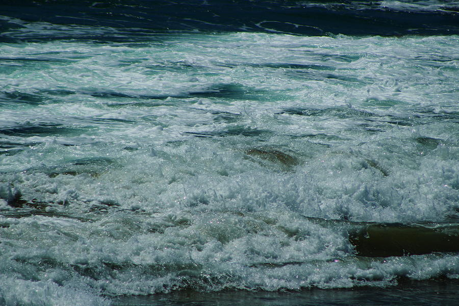 Blue Moon Photograph - Ocean In Blackened Pearl And Blue Moon by Colleen Cornelius