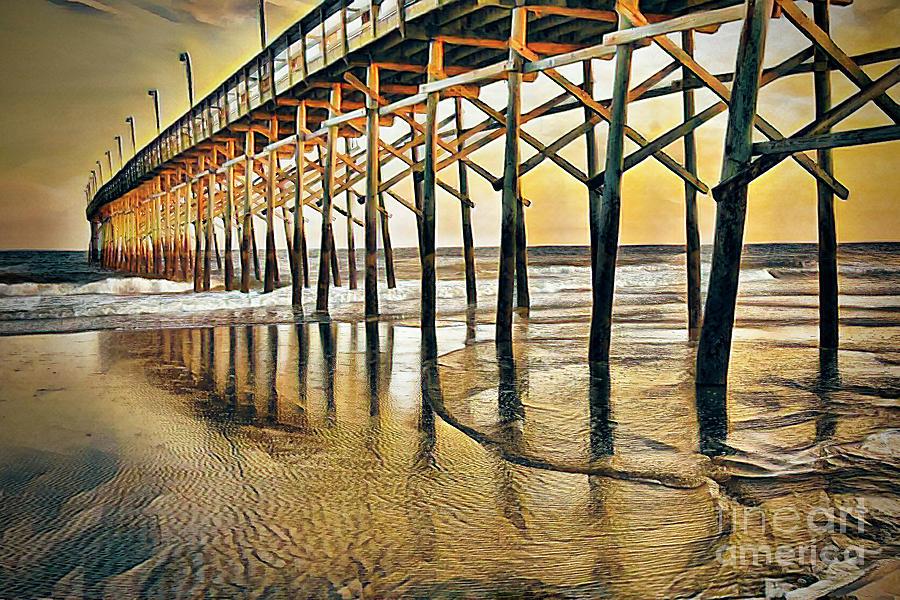 Ocean Isle Beach Pier by Irene Dowdy