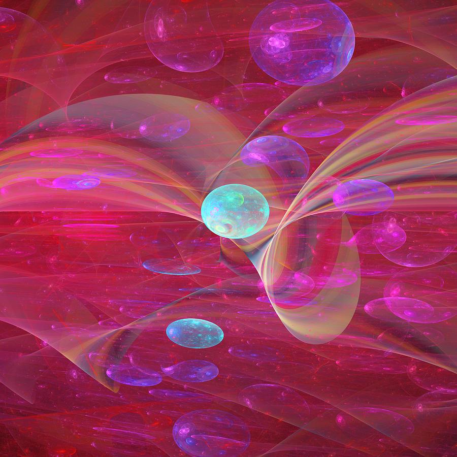 Abstract Digital Art - Ocean Of Sweet Wishes by Lenka Rottova