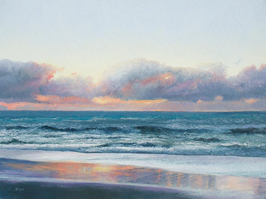ocean painting days end painting by jan matson