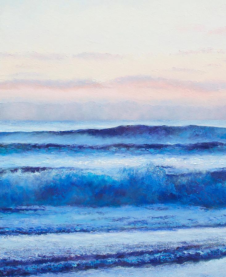 Ocean Painting - Ultramarine Blue Painting by Jan Matson
