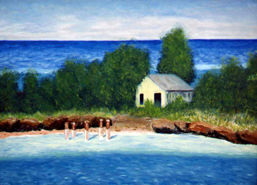 Seascape Painting - Ocean Shack by Stan Hamilton