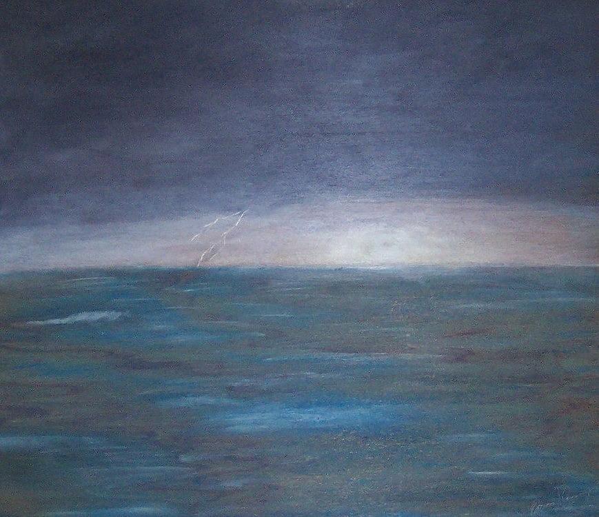 Ocean Storm by Patricia Brewer-Cummings
