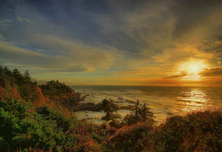 Ocean Photograph - Ocean Sun Rays by Dale Stillman