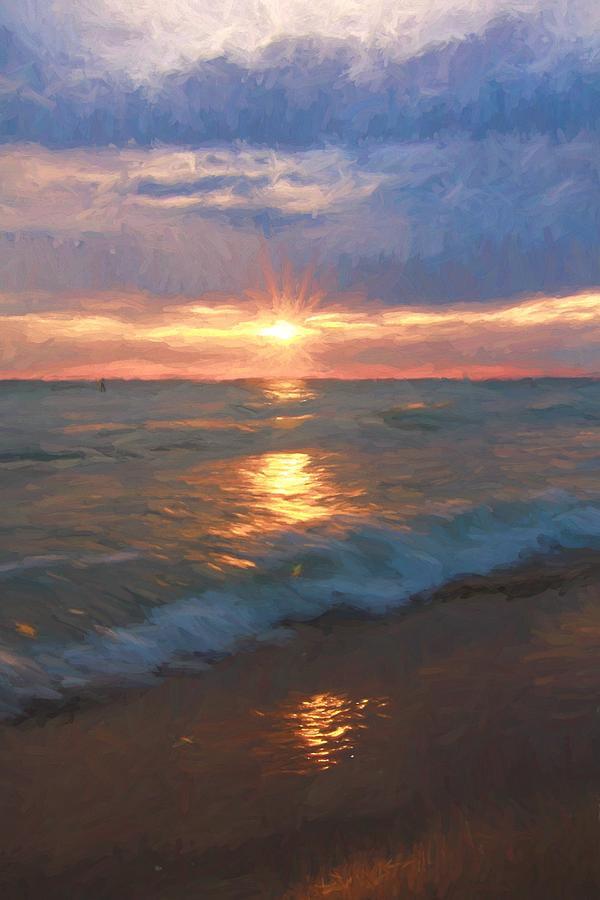 Ocean Sunset Painting - Ocean Sunset by Dan Sproul