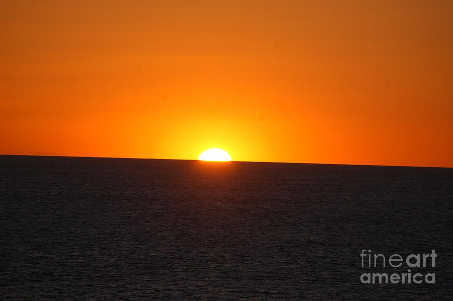 Ocean sunset by Frank Stallone