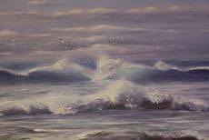 Ocean Surf Painting by Roger Milinowski
