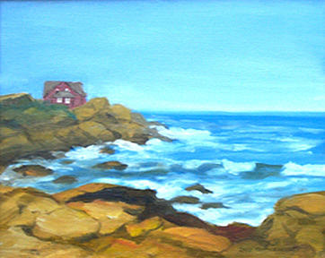 Landscape Painting - Ocean View by Anne Trotter Hodge