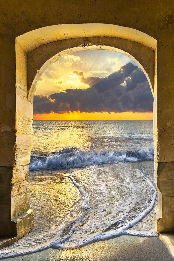 Clouds Photograph - Ocean View by Debra and Dave Vanderlaan