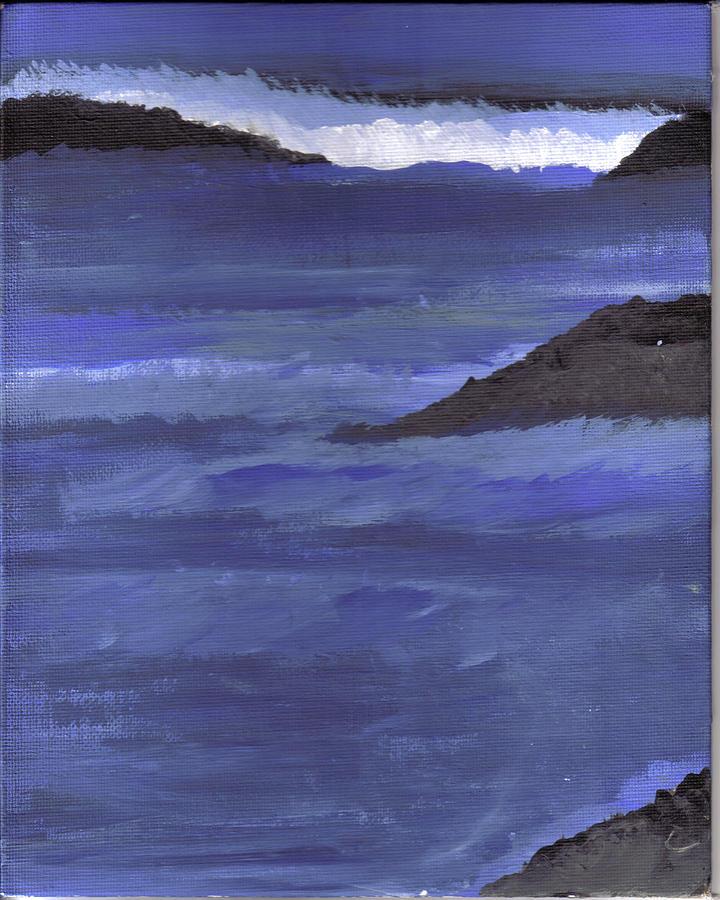 Ocean View Painting by Lynnette Jones