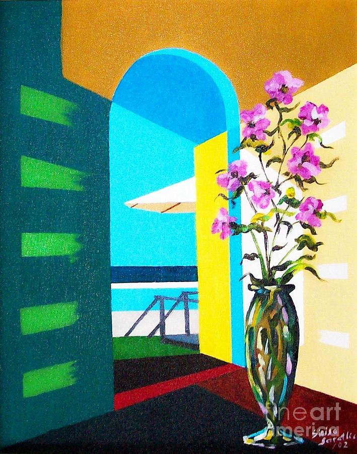 Still Life Painting - Ocean View by Sinisa Saratlic