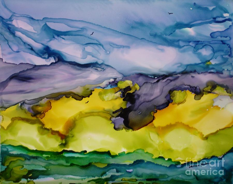 Landscape Painting - Ocean View by Susan Kubes
