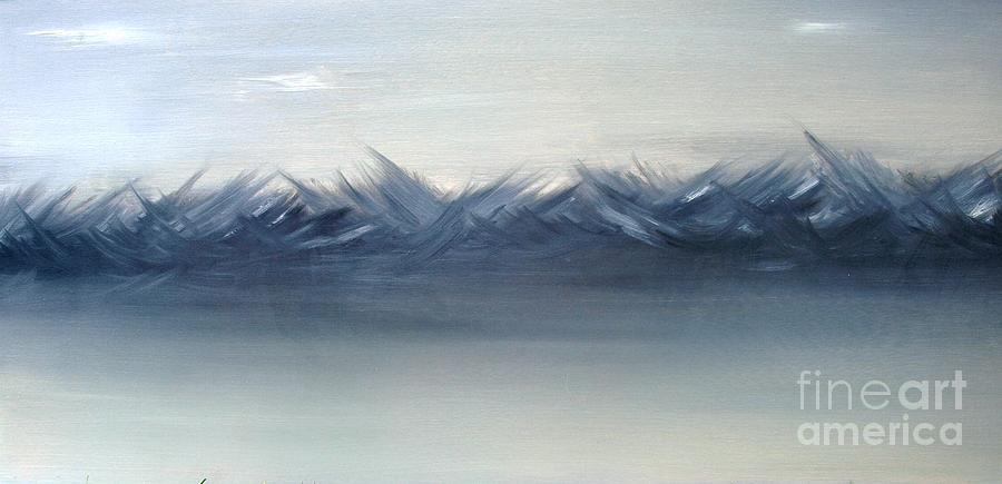 Water Painting - Ocean Violence by Julia Hakes