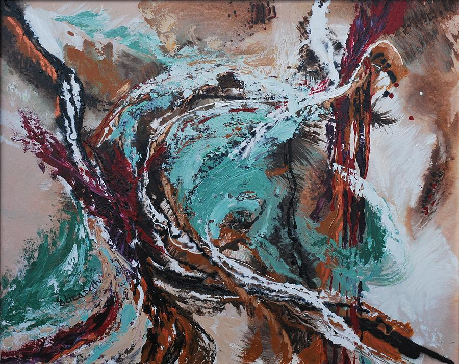 Ocean Wave Painting - Ocean Wave Abstract by Beth Maddox