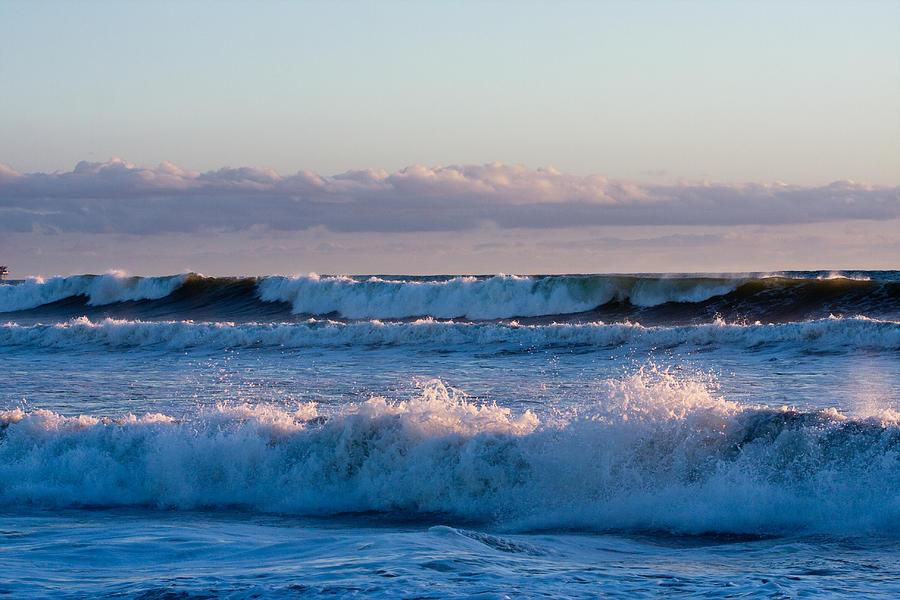 Ocean Photograph - Ocean Waves At Dusk by Dina Calvarese
