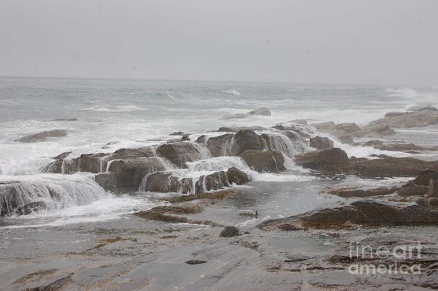 Ocean Photograph - Ocean Waves Over Rocks by Frank Stallone