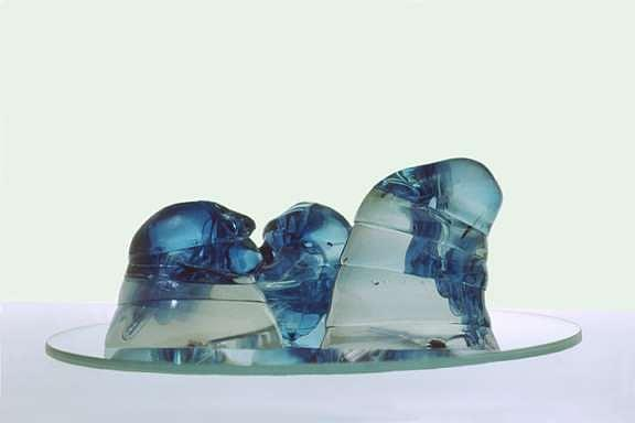 Glass Sculpture - Oceanic Forms by Vered Galor