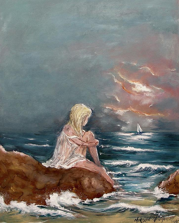 Oceanic Relaxation Painting by Miroslaw  Chelchowski