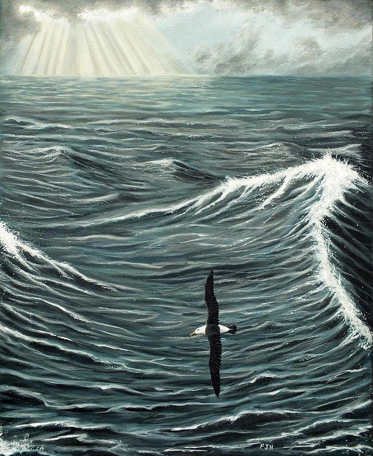 Albatross Painting - Oceanic Wanderer by Philip Harvey