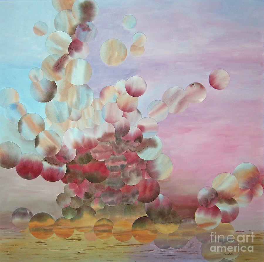 Skyscape Painting - Oceans Draw by Jeni Bate